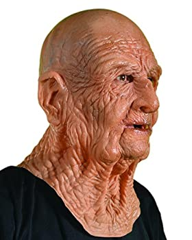 Zagone DOA Mask Old Dead Bald Wrinkly Man Super Soft Latex