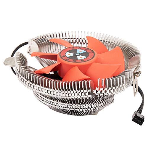 Bobin Enfriador de CPU de enfriamiento Disipador de Calor para LGA775 1155 AM2 AM3 754 Ventiladores de enfriamiento de CPU Ventilador de computadora Naranja