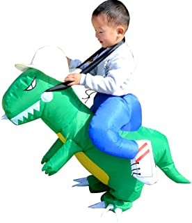 Inflatable Dinosaur T-Rex Blow Up Costume Suit Dino Rider for Halloween Cosplay Fancy Dress Party Events - Toddler Size