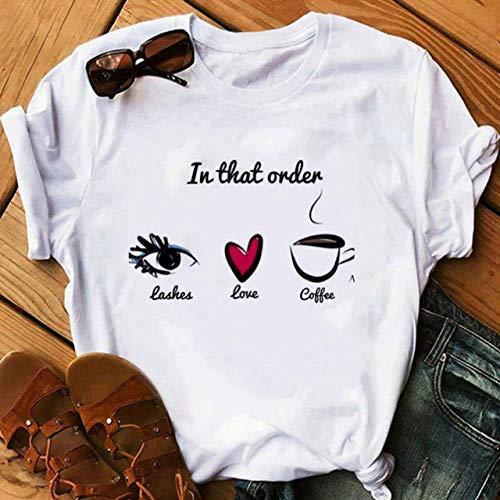 DAJUZI Belleza estética pestañas Impresiones Camiseta Harajuku Princesa Maquillaje Arte pestañas de Oro Rosa Camiseta Femenina Vogue Kawaii 90s Camisetas S P2669-3
