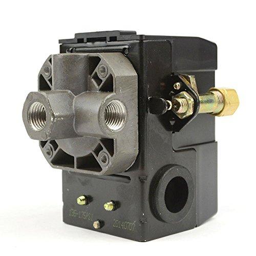 Lefoo Quality Air Compressor Pressure Switch Control 95-125 PSI 4 Port w/Unloader LF10-4H-1-NPT1/4-95-125