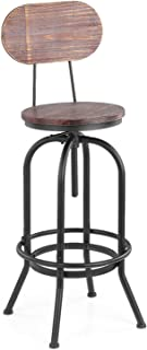 Bar Chairs Bar Stools Industrial Bar Stool Seat Height Adjustable Swivel Kitchen Dining Chair pin-ewo-od Top Metal with Ba...
