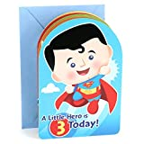 Hallmark 3rd Birthday Greeting Card for Boy (Superman, Batman, Iron Man, Green Lantern) bats Apr, 2021