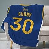 "Sleep Squad Golden State Warriors Stephen Curry 60"" x 80"" Rachel Plush Blanket – A NBA Jersey Throw"