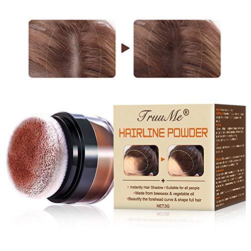 Ansatzpuder, Haaransatz Puder, HaarConcealer, Ansatzpuder/Concealer/Haar Concealer zur Haarverdichtung für Frauen und Männer, wasserfestes Haar Make-up zum Ansatz Kaschieren -3g(Natürliches Braun)