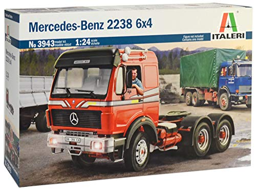 ITALERI 3943S - 1:24 Mercedes-Benz 2238 6x4 , Modellbau, Bausatz, Standmodellbau, Basteln, Hobby, Kleben, Plastikbausatz, detailgetreu