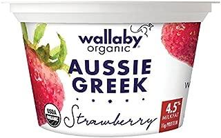 Wallaby Organic, Whole Milk Greek Yogurt, Blended Strawberry, 5.3 oz