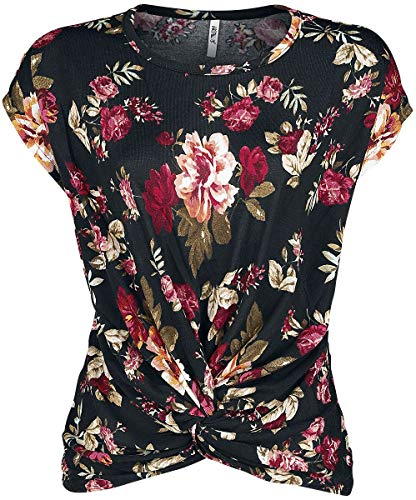 Hailys Jola Frauen T-Shirt schwarz L, 100% Polyester, Basics, Streetwear