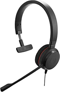 Jabra Evolve 20 SE Mono Headset – Microsoft Certified Headphones for VoIP Softphone with Passive Noise Cancellation – USB-...