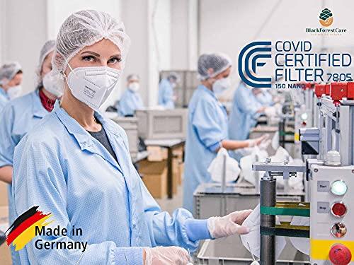 FeineHeimat atemious PRO 10 x Komfort Vlies FFP2 Atemschutzmaske Made in Germany mit Zertifikat CE 2163 - 7