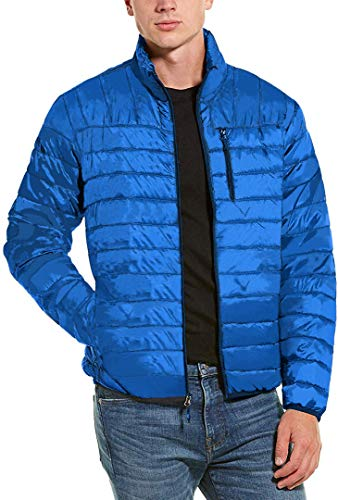 Hawke and Co. Packable Down Jacket with Chest Pocket - Men's Victoria Blue, XL