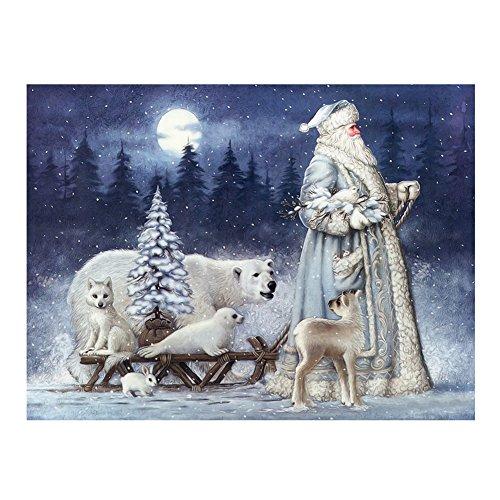 La Cabina Père Noël Neige Ours 5D Diamant Kit Craft Peinture DIY pour Décoration de Maison