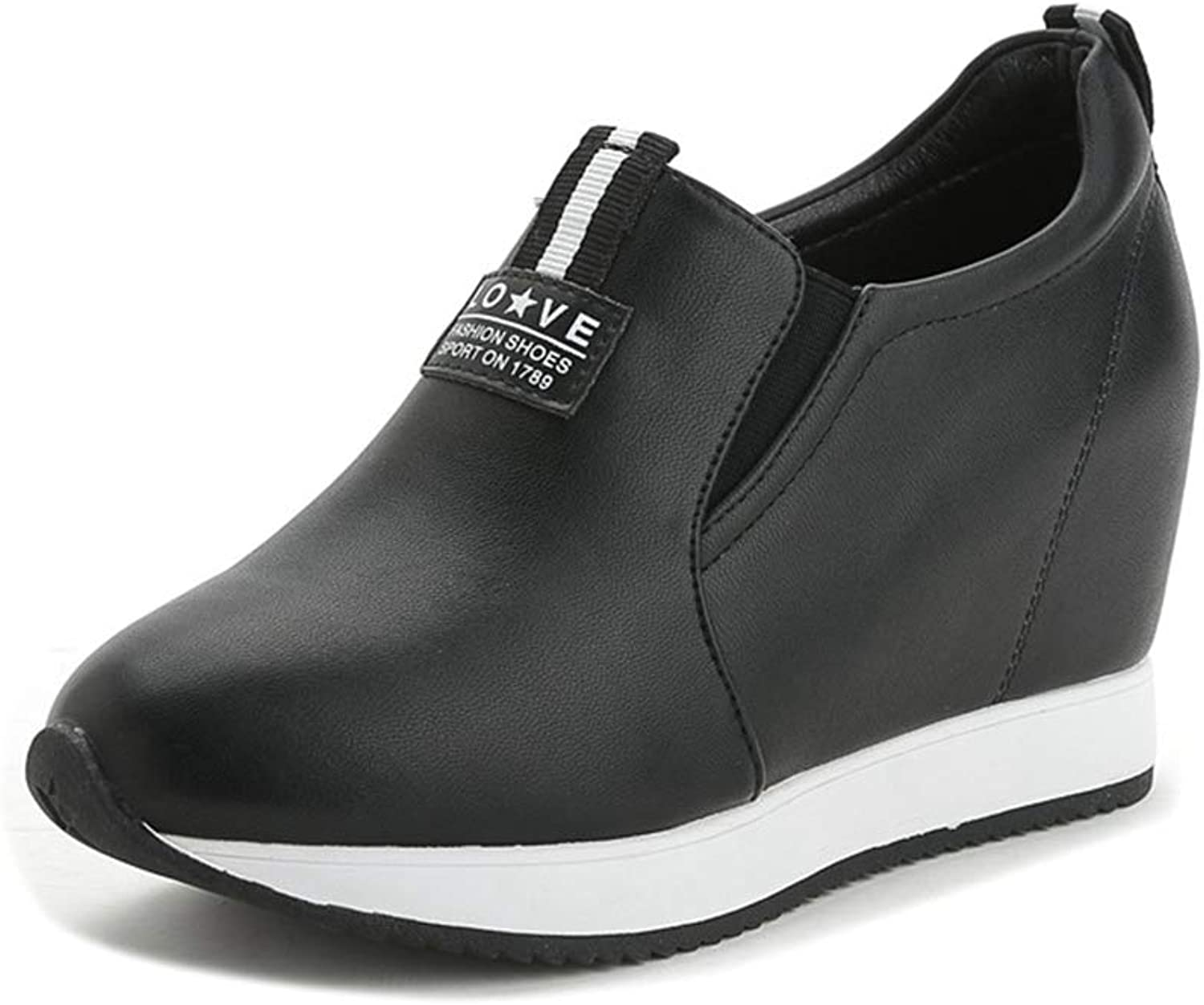 ASO-SLING Hidden Heels Wedges Sneakers for Womens Fashion Loafers Casual Height Increasing Walking shoes