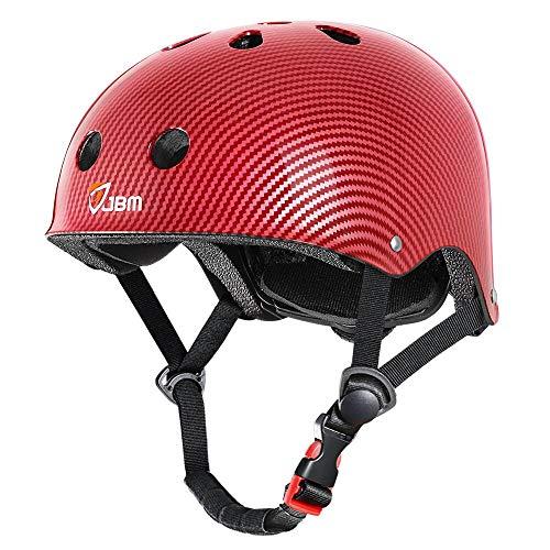 JBM Skateboard Adult Helmet ASTM CPSC Certified Bike Multi-Sport Helmets CE Certified for Scooter Roller Skate Inline Skating Riding for Adults Youth (Red, Large)