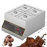Máquina de templado de chocolate eléctrica comercial, capacidad de 12 kg, máquina de fusión de chocolate con calentamiento por aire, fundidor, 0-185 Temperature, temperatura ajustable, 4 ollas