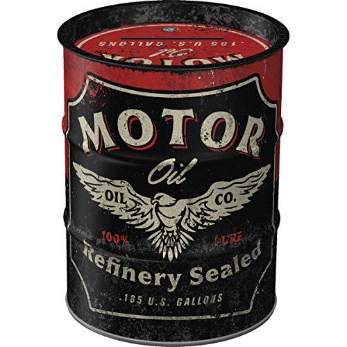 Nostalgic-Art - Motor Oil Spardose, Geschenke für Biker und Motorrad-Liebhaber, als Sparschwein aus Metall, Vintage Sparbüchse aus Blech