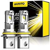 AUXITO 9007 LED Headlight Bulbs, 12000LM Per Set 6500K Xenon White Wireless HB5 High Low Beam...