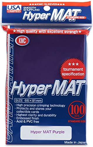 KMC Hyper Matte Purple 100-count Standard Size Sleeves Pack [USA packaging]