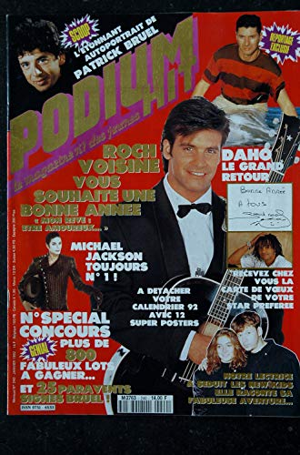PODIUM HIT 240 JANVIER 1992 ROCH VOISINE MICHAEL JACKSON + POSTER ETIENNE DAHO MYLENE FARMER + CALENDRIER 1992