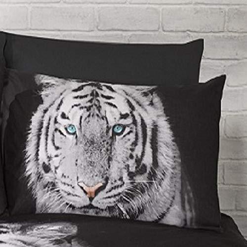 Urban GoCo Tigre Animal 3D impresión de Alta definición Color Negro y Dorado Funda de edredón (Doble)