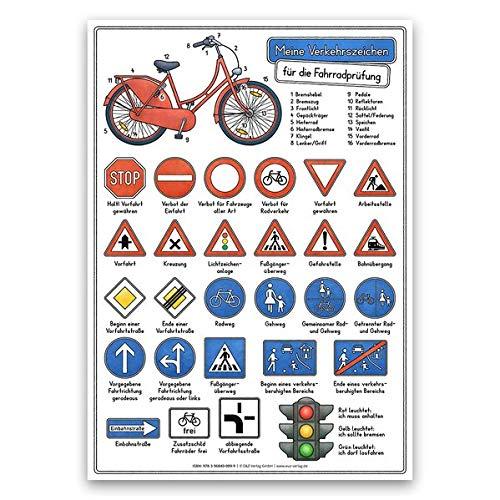 Meine Verkehrszeichen für die Fahrradprüfung: DINA 3 laminiert
