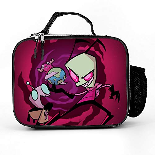 Invader Zim Lunch Bag,Water-Resistant Cooler Pack Food Lunch Box For Girl Boy