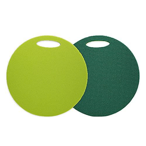 Yate doppeltes Schaumstoff Sitzkissen - 18 Stück in einem Set - doppelseitig - wasserdicht und schmutzabweisend - Sitzunterlage - rund - mit Griff