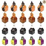 20pcs Caja de Dulces Cajas para Galletas Bolsas Caramelos Halloween, en forma de...
