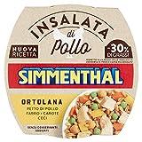 Simmenthal Ortolana, Insalata di Petto di Pollo con Farro, Ceci, Carote e Piselli, 1 Lattina da 160 gr