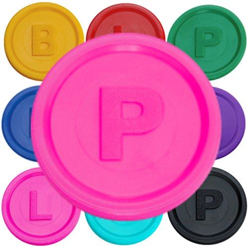 test 1000 Einzahlungsmarken, Chips, 14 farbige BP- oder L-Buchstaben-Neon-Torten-P-Marken… Deutschland