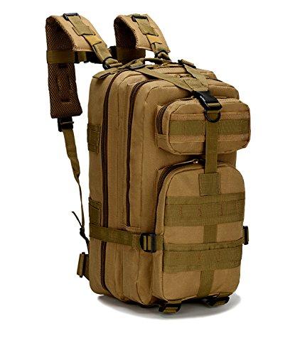 horeen militare tattico zaino piccolo zaini escursionismo, outdoor trekking campeggio tattico molle confezione, Desert Camouflage (TAN)