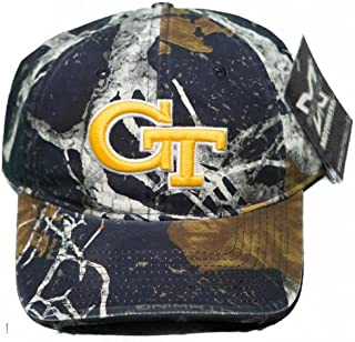 NEW! Georgia Tech Yellow Jackets Buckle Back 3D Embroidered Mothwing Camo Cap