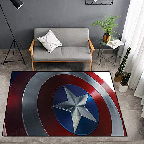 KIKCY Avengers Teppich Marvel Türmatte Teppich Captain America Teppich Wohnzimmer Schlafzimmer Türmatte Anti-Rutsch-Matte Cartoon Geschenk-160 * 200 cm_TF-29