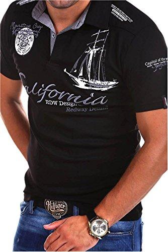 MT Styles Poloshirt CALFOR T-Shirt R-2371 [Schwarz, 3XL]