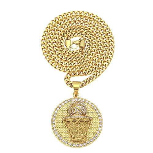Street Dance Accessories - Collar chapado en oro para hombre, diseño de...
