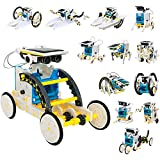 JUGUETECNIC │ Kit robotica para niños 13 en 1 │ 80 piezas de robótica educativa │ Juguete solar original y divertido