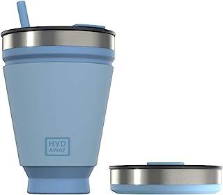 HYDAWAY Opvouwbare drinkbeker | Draagbare, geïsoleerde, warme en koude drankbeker voor koffie, thee, smoothies, bier, cock...