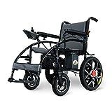 MinMin Elektrischer Rollstuhl, der zusammenklappbare leichte ältere Behinderte intelligente automatische Lithium-Batterie vierrädrige Roller-Last 150kg, Leistung 250W faltet Medizinische Ausrüstung -