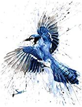 Blue Jay Print, Watercolor Blue Jay Painting, Blue Jay Decor, Blue Jay Wall Art, Bird Gifts