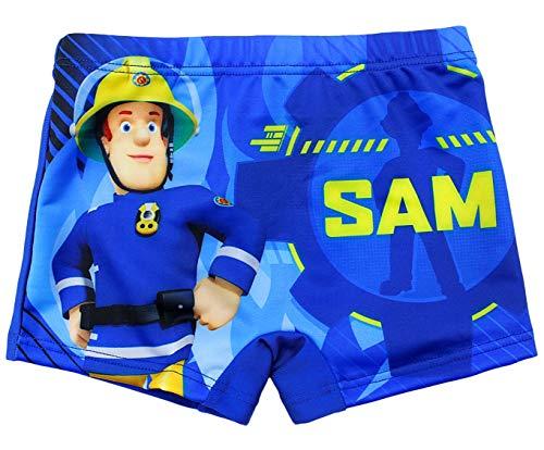 Feuerwehrmann Sam Badehose Jungen Badeshorts (Blau, 116)
