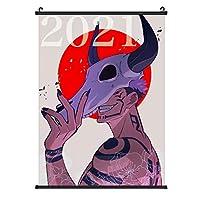 呪術廻戦 壁飾りポスター 部屋飾り 寝室 掛け軸 壁掛け 掛け画 良い絵 タペストリー おたくプレゼント20''×28''