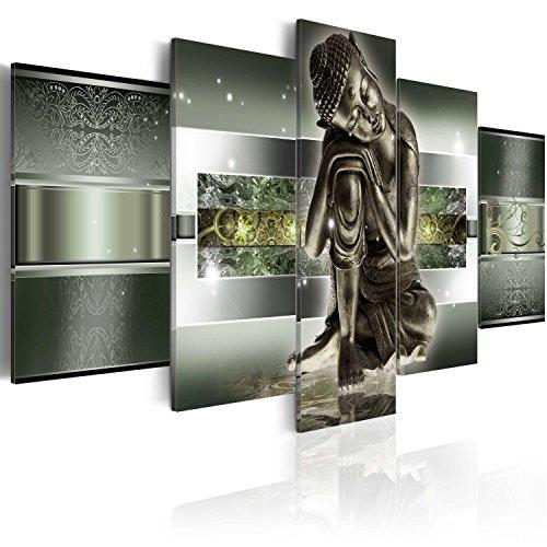 murando Cuadro en Lienzo Buda Zen SPA 200x100 cm Impresión de 5 Piezas Material Tejido no Tejido Impresión Artística Imagen Gráfica Decoracion de Pared Buddha Paisaje Cascada 020113-291