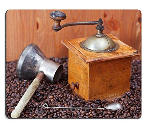 Goobull Luxlady Gaming Mousepad Image ID: 24414441Retro Manuale macina caffè pentola di Rame Cucchiaio su Molti Chicchi di caffè tostato