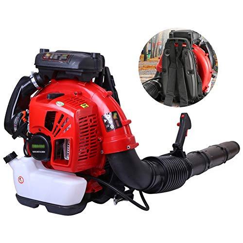 ALGWXQ Gasbetriebenes 2-Takt-Laubgebläse, Schneeblattgebläse-Rucksack Benzinmotor-Straßengebläse Tragbare Windlöscher Hochleistungs-Akku-Kehrmaschine (Color : Red)