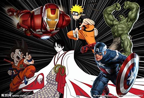 The Avengers Super Heroes 3D Broken Wall Vinyl Stickers Thor Iron Man Poster Mural Kids Room Decoration Anime Wallpaper