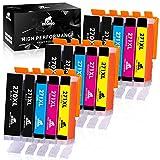 IKONG PGI-270XL CLI-271XL Compatible Replacement for Canon 270 271 Ink Cartridges, for Canon Pixma MG5720, MG5722, MG6820, MG6821, TS5020, TS6020 Printer (3 PGBK, 3 Black, 3 Magenta, 3 Cyan, 3 Yellow)