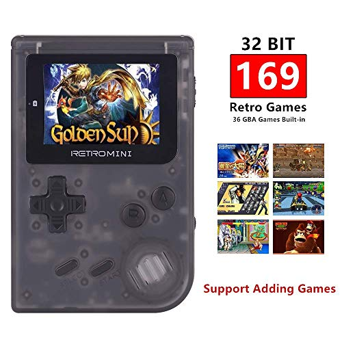 TAPDRA Retro Mini Handheld Video Game Console System, Classic 169 Built in English Games, Support up to 32GB TF Card with NES and GBA Games