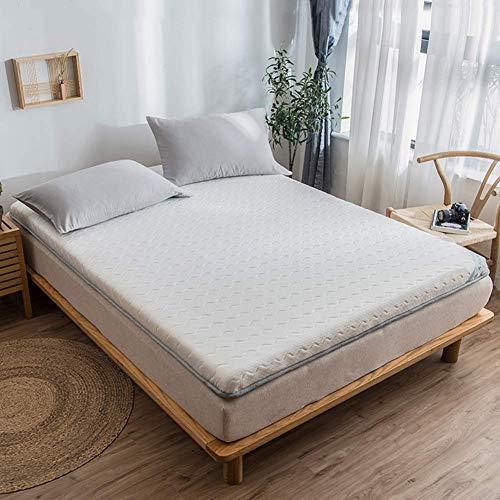 Látex Colchón, Japonés Tatami Plegable Almohadilla De Piso Cómodo Respirable Espesar Almohadilla para Dormir para Sala Dormitorio De Camping (Color : A, Size : King-180x200cm)