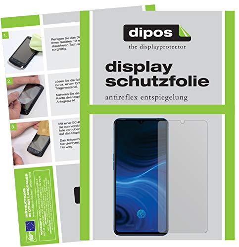 dipos I Schutzfolie matt kompatibel mit Oppo Realme X2 Pro Bildschirmschutz-Folie (Kleiner als das Glas, da Dieses gewölbt ist)
