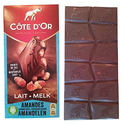 Côte d'Or Chocolat lait Bloc amandes caramélisées pointe de sel - La tablette de 180 g